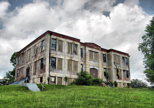 Explorers visit a creepy abandoned School and Gymnasium!