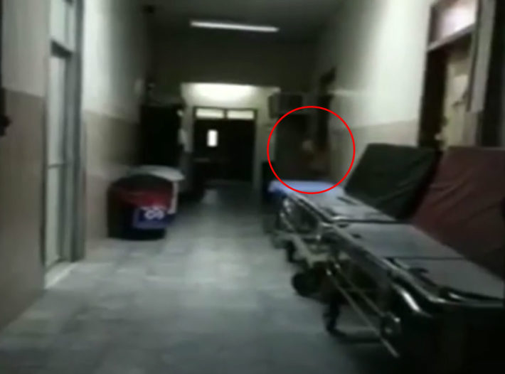 Is this the ghost of a Doctor caught on video!?
