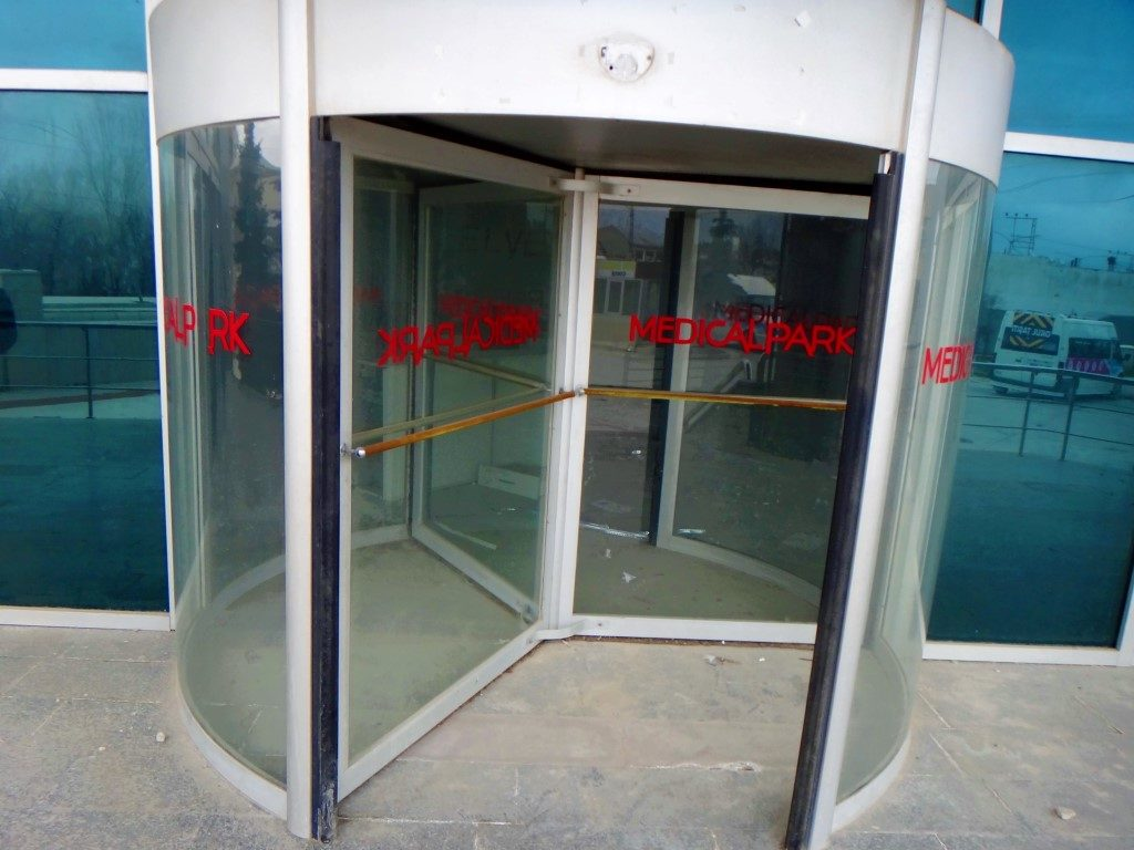 Medical PArk Revolving Door Entrance Outside (Medium)