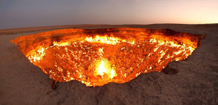 We found the Gates of Hell in Turkmenistan!
