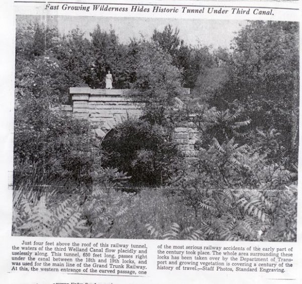 Old Photo of Blue Ghost Tunnel